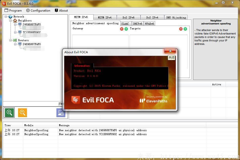 EvilFOCA – Windows 中间人/ARP嗅探攻击工具 第1张